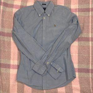 Ralph Lauren Oxford Button Down Skinny Fit Size 4